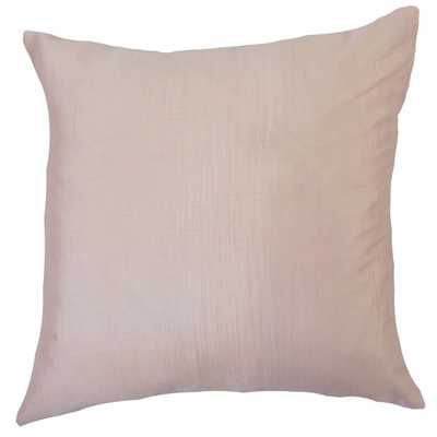 """Barzillai Solid Pillow Pink - 18"""" x 18"""" - Linen & Seam"""