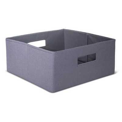 "Half-Size Fabric Cube Storage Bin 13"" - Gray - Target"