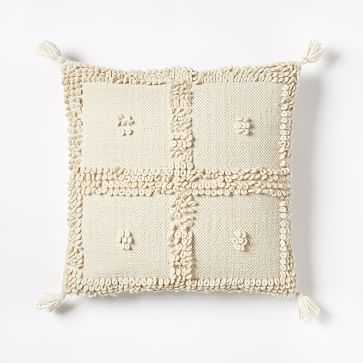 "Commune Temoayan Pillow Cover, Ivory, 24""x24"" - West Elm"