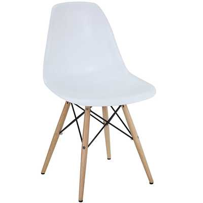 PYRAMID DINING SIDE CHAIR IN WHITE - Modway Furniture
