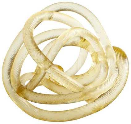 GOLDEN GLASS KNOT - LARGE - art.com