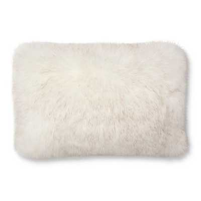 Faux Fur Pillow White - Threshold - Target