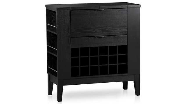 Parker Spirits Ebony Cabinet - Crate and Barrel