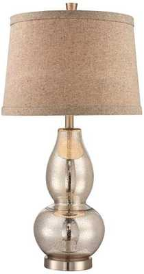 "Double Gourd 30 1/2"" High Mercury Glass Table Lamp - Lamps Plus"