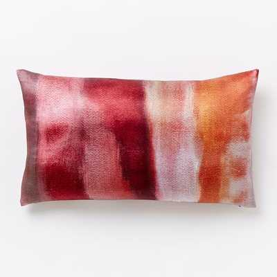 "Cloudy Abstract Pillow Cover - Shockwave - 12""w x 21""l - Insert sold separately - West Elm"