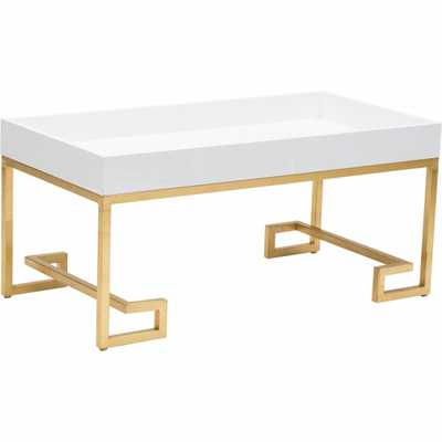 Conrad Cocktail Table, White Lacquer - High Fashion Home