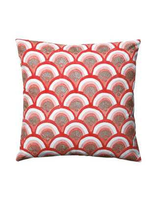 "Kyoto Pillow Covers - Poppy - 20""SQ. - Insert sold separately - Serena and Lily"