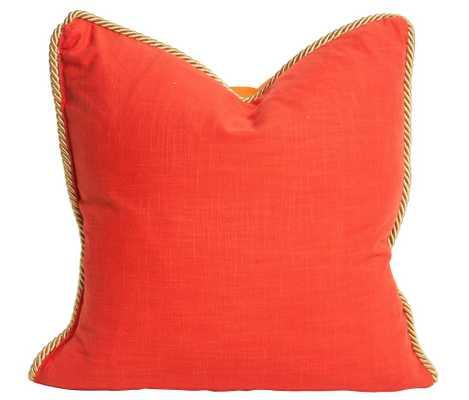 Colorblock Linen Pillow - Persimmon & Koi - Society Social
