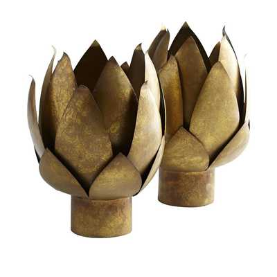 Gold Artichoke Accents - Set of 2 - Wisteria