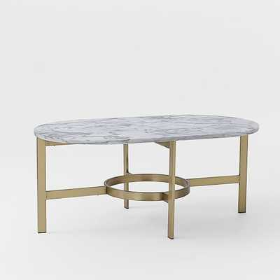 Marble Oval Coffee Table - West Elm