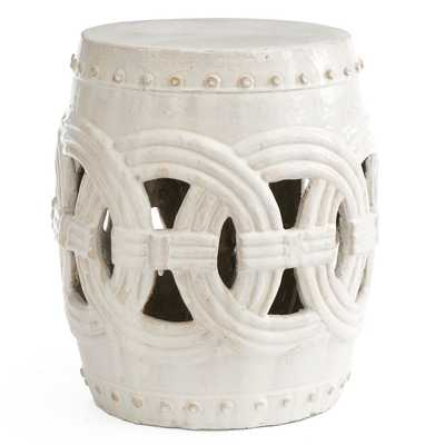 Indian Rings Stool - White - Wisteria