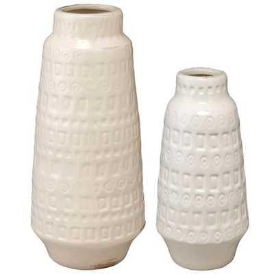 COCO VASES - SET OF 2 - WHITE - Home Decorators