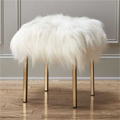 Sheepskin stool - CB2