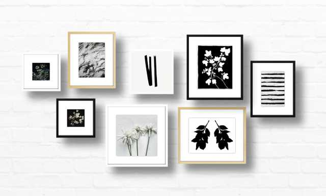 Black and White art set - Framed - Artfully Walls