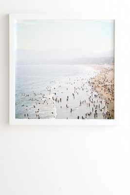 "La Summer - 30"" x 30"" - Framed (White) - Wander Print Co."