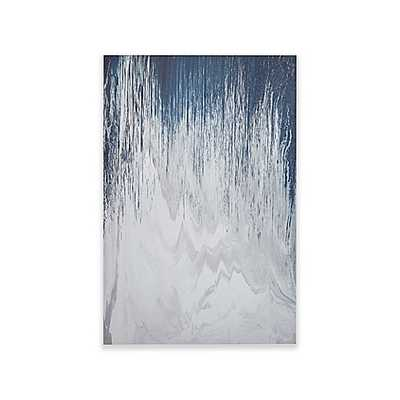 INK+IVY Abstracted Chevron Canvas with Heavy Gel Coat Wall Art in Navy - Bed Bath & Beyond