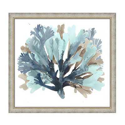 Seaside Coral Art - Blue - Print 2 - Framed - Ballard Designs