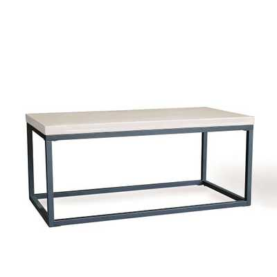 Slab Box Frame Coffee Table - Rectangle - West Elm