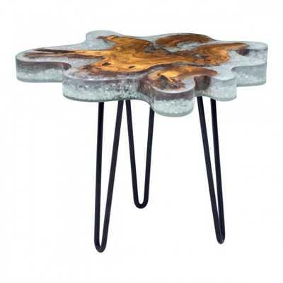 Jigsaw Side Table Natural - Zuri Studios