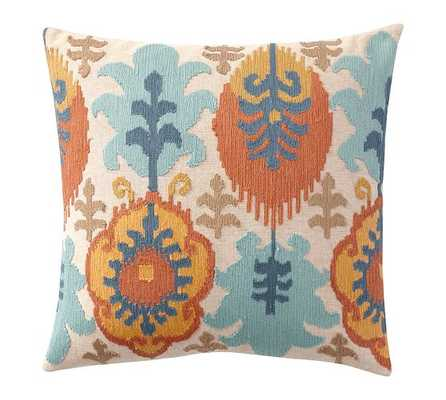 "LEIGH IKAT EMBROIDERED PILLOW COVERS - 20"" - no insert - Pottery Barn"