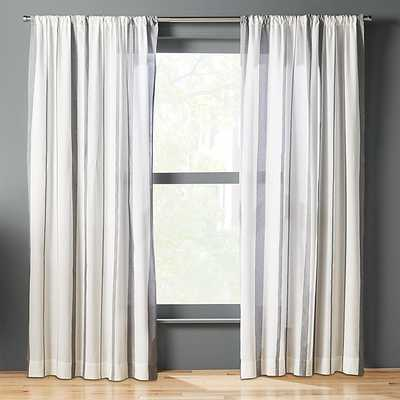 Wide stripe curtain panel - CB2