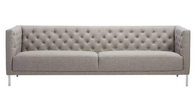 savile grey sofa - CB2