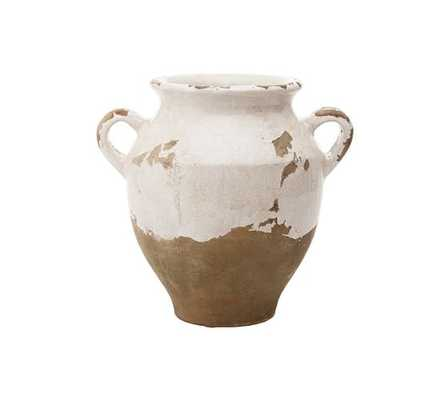 Tuscan Terra Cotta Vases  - Small Double Handled Urn - Pottery Barn