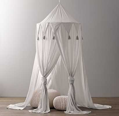 COTTON VOILE PLAY CANOPY - GREY - RH Baby & Child