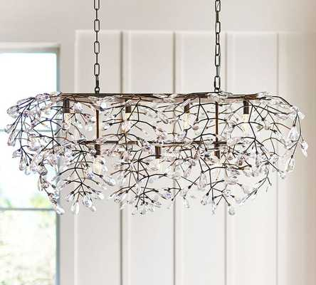 Bella Crystal Rectangular Chandelier - Pottery Barn