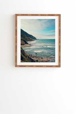 "CALIFORNIA PACIFIC COAST HIGHWAY Wall Art - 19"" x 22.4"" - Bamboo Frame - No Mat - Wander Print Co."