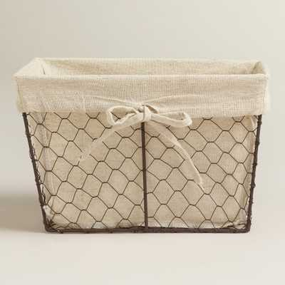 Charlotte Lined Wire Baskets - Small - World Market/Cost Plus
