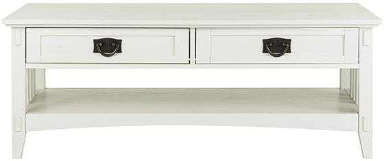Artisan 2-Drawer Coffee Table - White - Home Decorators