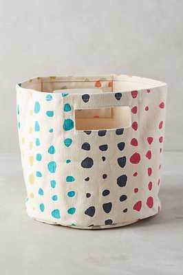 Painted Spots Basket - Large - Anthropologie