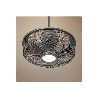 """Casa Vestige™ Cage LED Ceiling Fan - 17"""" Antique Bronze - Lamps Plus"""