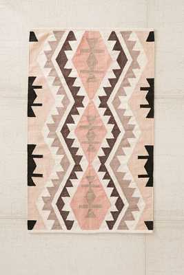 Samarkand Kilim Woven Rug - Pink - 5' x 7' - Urban Outfitters
