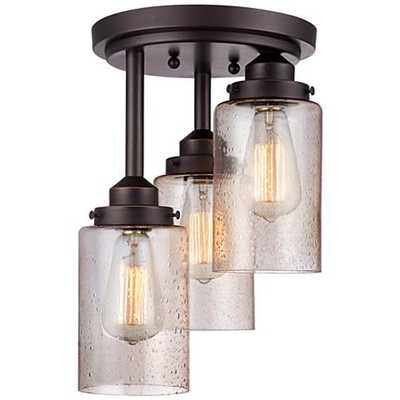 """Libby Collection 9 1/2"""" Wide Oil-Rubbed Bronze Ceiling Light - Lamps Plus"""