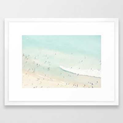 "Sea Art Print - 20"" x 26"" - Vector White Frame - Society6"