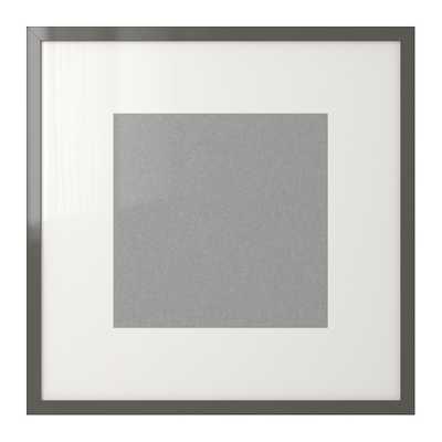 RIBBA Frame, high gloss, gray - Ikea