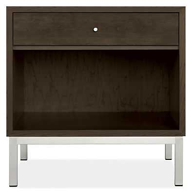 Delano Nightstands-Maple with Charcoal Stain- 22w 18d 22h - Room & Board