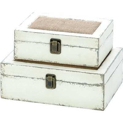 Brittany 2 Piece Decorative Box Set - Wayfair