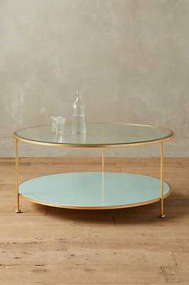 Lacquered Round Coffee Table - Anthropologie