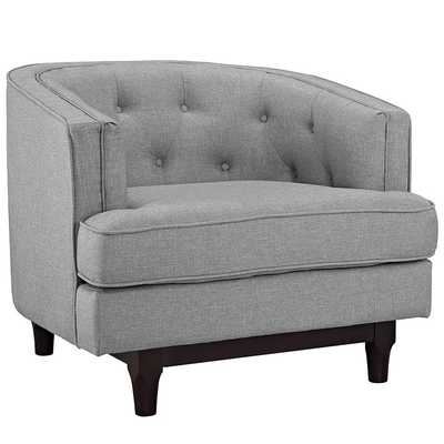 COAST ARMCHAIR IN LIGHT GRAY - Modway Furniture