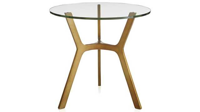 Elke Glass Side Table - Crate and Barrel