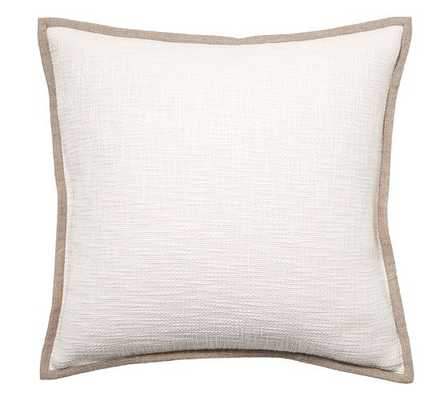 Basketweave Pillow Cover - Ivory -  No Insert - Pottery Barn
