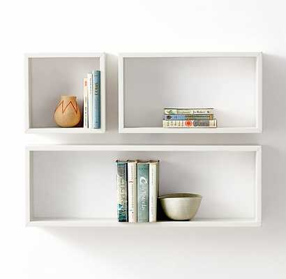 Rectangle Wood Curio Shelf - small rectangle - RH Teen