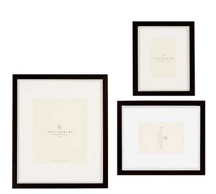 WOOD GALLERY SINGLE OPENING FRAMES - BLACK - Pottery Barn