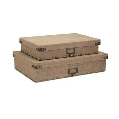 Corbin Document Boxes - Set of 2 - Mercer Collection