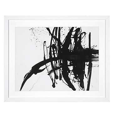 Ink - White Frame - With Mat - Z Gallerie