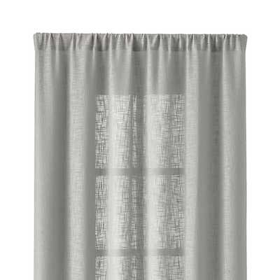 "Lindstrom 48""x84"" Grey Curtain Panel - Crate and Barrel"