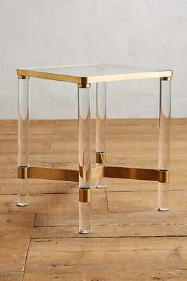 Oscarine Lucite End Table - Brass - Anthropologie